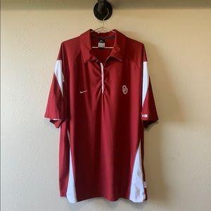 Nike University of Oklahoma Dri Fit Polo Sz XXL